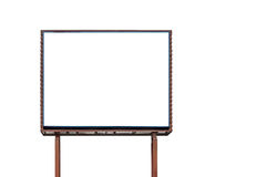Blank billboard for advertisement isolated on white Royalty Free Stock Photos