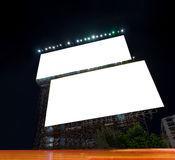 Blank billboard advertisement Stock Photos