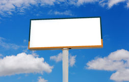 Blank billboard for advertisement Royalty Free Stock Photos
