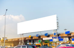 Blank billboard for advertisement  in Toll collecting on the exp Royalty Free Stock Photos