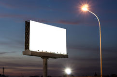 Blank billboard for advertisement Stock Image