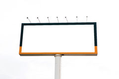Blank billboard for advertisement on white background Stock Photography