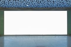 Blank billboard for advertising poster or blank billboard banner. On wall royalty free stock image