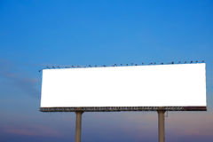 Blank billboard against blue sky Stock Photography