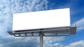 Blank billboard. Against blue sky