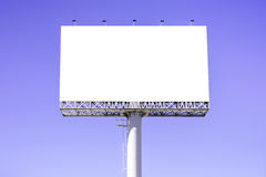 Blank billboard against blue sky for advertisement Stock Photo