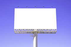 Blank billboard against blue sky for advertisement Stock Images