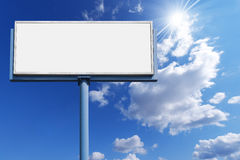 Blank Billboard Against a Blue Sky Stock Photography