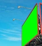 Blank billboard against blue sky. Stock Photos