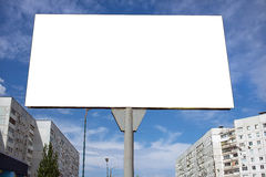 Blank billboard against  blue sky in the city Stock Photography