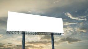 Blank billboard against blue sky Stock Photo