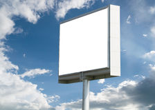 Blank billboard against blue sky Royalty Free Stock Photo
