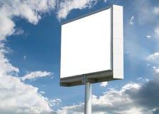 Blank billboard against blue sky Royalty Free Stock Photo