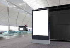 Blank Billboard in airport Stock Image