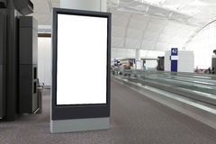 Blank Billboard in airport Royalty Free Stock Image