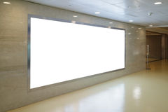 Blank Billboard in airport Stock Image