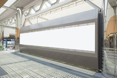Blank Billboard in the airport Royalty Free Stock Photos