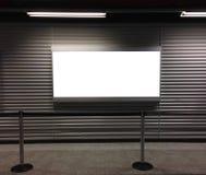 Blank billboard at airport Royalty Free Stock Photography