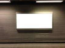 Blank billboard at airport Stock Photos