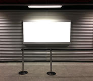 Blank billboard at airport Royalty Free Stock Images