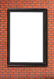Blank billboard attached to a buildings brick wall Royalty Free Stock Image