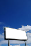 Blank billboard background Royalty Free Stock Photos