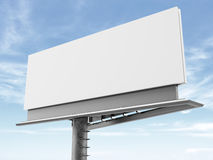 Blank billboard on the background of clouds Stock Photos