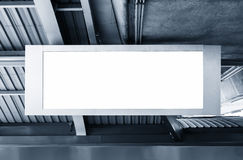 Blank Billboard Banner light box template display in station Royalty Free Stock Photography