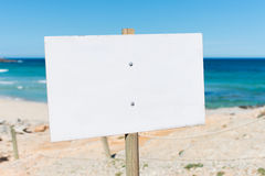 Blank Billboard At Beach Stock Images
