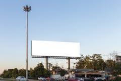 Blank billboard. Big blank billboard on the road Royalty Free Stock Images