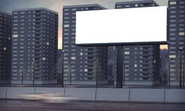 Blank billboard. Billboard blank at evening 3d rendering Stock Photos