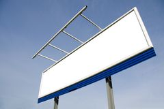 Blank billboard on blue sky Royalty Free Stock Photography