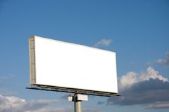 Blank billboard on blue sky Royalty Free Stock Photos
