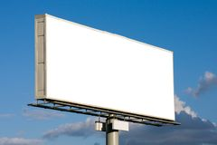 Blank billboard on blue sky Stock Photography