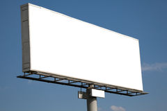 Blank billboard on blue sky Stock Photos