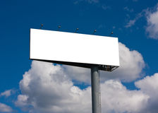 Blank billboard on blue sky Stock Images