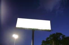 Blank billboard in a blue sky Royalty Free Stock Photo