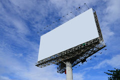 Blank billboard. On blue sky royalty free stock photography