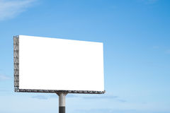 Blank billboard. With blue sky stock photography