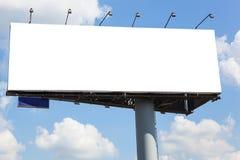 Blank billboard on blue sky background Stock Photo