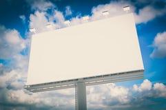 Blank billboard at blue sky background vector illustration