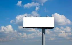 Blank billboard on blue sky Royalty Free Stock Photos