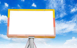 Blank billboard on blue sky. Royalty Free Stock Photography