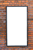 Blank billboard on brick wall Royalty Free Stock Images