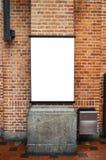 Blank billboard on brick wall Royalty Free Stock Photography