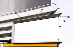 Blank billboard. On the building Royalty Free Stock Images