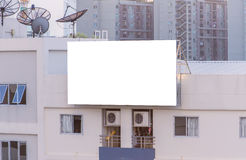 blank billboard on building in city view background Royalty Free Stock Photography