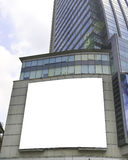 Blank billboard on the building. Useful for your advertisement. Royalty Free Stock Image