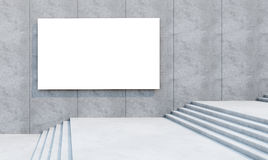 Blank billboard on the building Royalty Free Stock Photos