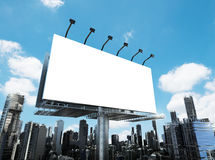 Blank billboard with buildings Royalty Free Stock Image